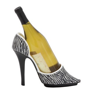Stiletto Design with Jungle Print Polystone Shoe Wine Holder