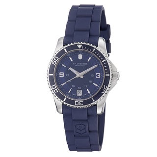 Swiss Army Women's 'Maverick' Blue Dial Blue Rubber Strap Quartz Watch