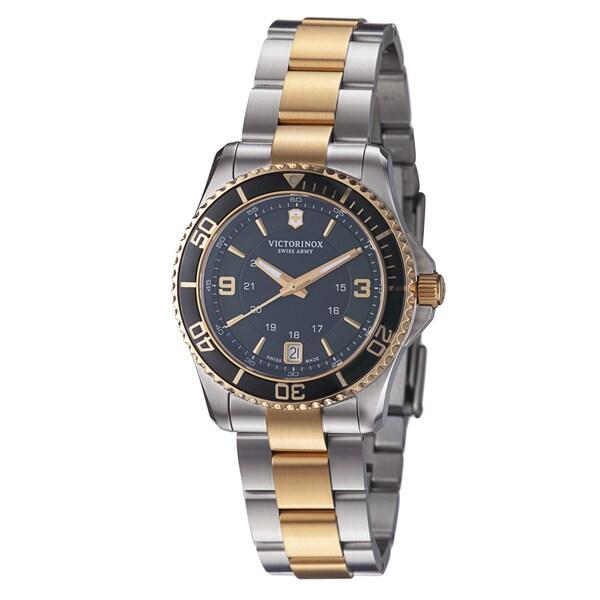 Victorinox Swiss Army Women's 241612 'Maverick' Green Dial Two-Tone Steel Quartz Watch