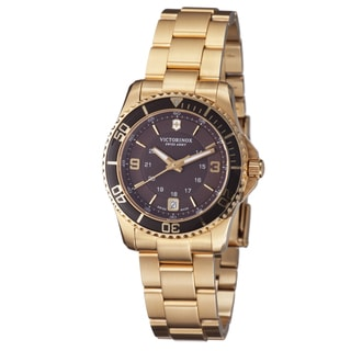 Swiss Army Women's 241614 'Maverick' Brown Dial Goldtone Steel Bracelet Watch