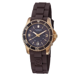 Swiss Army Women's 241615 'Maverick' Brown Dial Brown Rubber Strap Watch