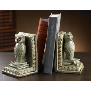All Seeing Ceramic Owl Bookends