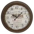 Bordeaux Metal Wall Clock