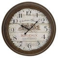 Bordeaux Metal Wall Clock