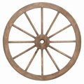 Wood and Metal 30-inch Wagon Wheel