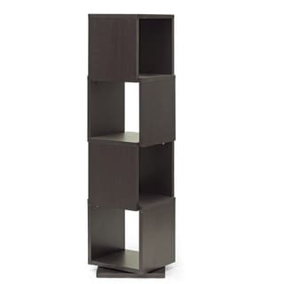 Baxton Studio Ogden Dark Brown/ Espresso 4-level Rotating Modern Bookshelf