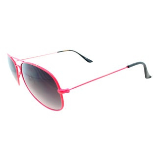 Fantaseyes 'Moonbeam' Pink Metal Aviator Sunglasses