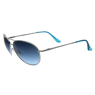 Fantaseyes 'Chase' Silver Blueberry Metal Aviator Sunglasses