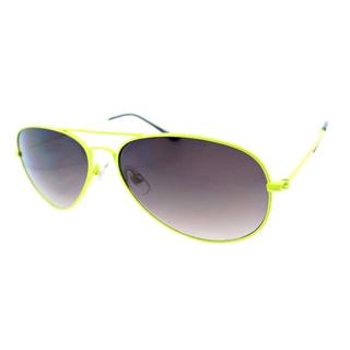 Fantaseyes 'Moonbeam' Yellow Metal Aviator Sunglasses
