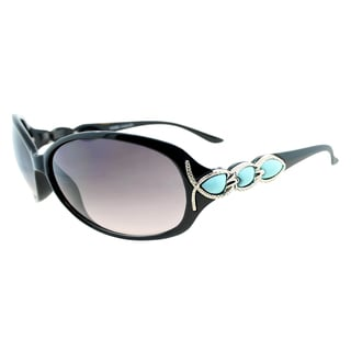 Fantaseyes Women's 'Grace' Black and Teal Sunglasses