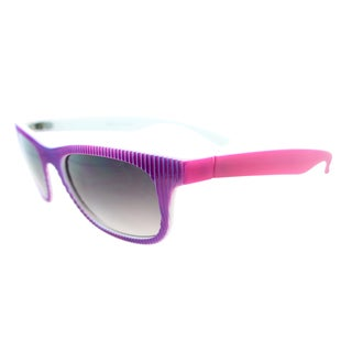 Fantaseyes Women's 'Culture Shock' Two-tone Textured Plastic Sunglasses