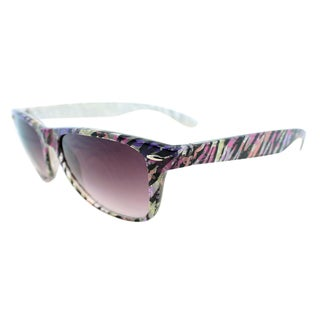 Fantaseyes Women's 'Amazon' White/ Pink Zebra Sunglasses