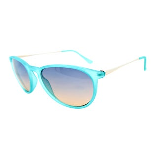 Fantaseyes Women's 'Harvard Yard' Turquoise Rubberized Sunglasses
