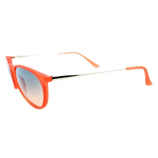 Fantaseyes Women's 'Harvard Yard' Orange Rubberized Plastic Sunglasses