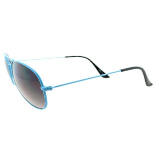 Fantaseyes 'Moonbeam' Blue Metal Aviator Sunglasses