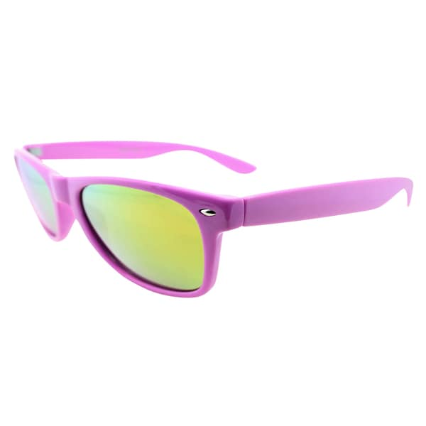 Fantaseyes 'Galato' Hot Purple Yellow Mirrored Plastic Sunglasses
