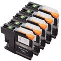 Sophia Global Compatible Black Ink Cartridge Replacement for LC107 XXL (Pack of 5)