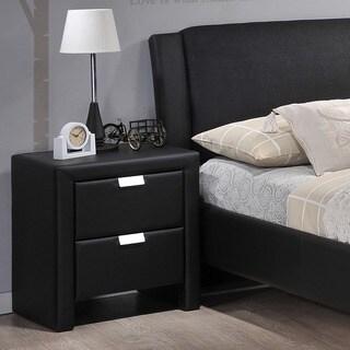 Baxton Studio Frey Upholstered Modern Nightstand
