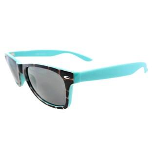Fantaseyes 'Beat Box' Tortoise and Aqua Plastic Sunglasses