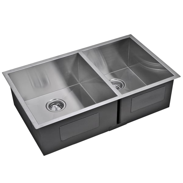 water creation double bowl stainless steel undermount