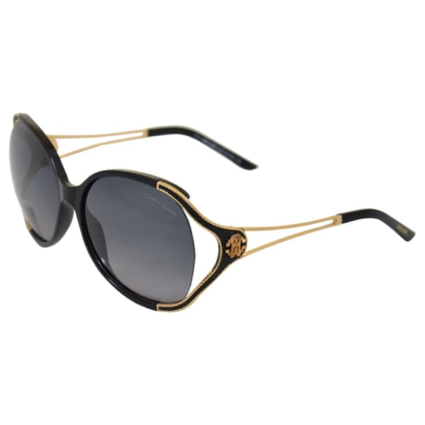 Roberto Cavalli 'RC669S Clerodendro' 01B Black/Gold Sunglasses