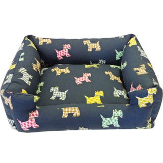 Large Blue Scotty Pet Bed