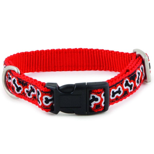 PetSafe Nylon Pet Dog Collar Petite to Large (Rolling Bones)