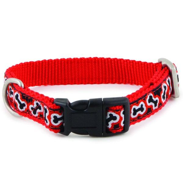 PetSafe Nylon Pet Dog Collar Petite to Large (Rolling Bones)