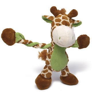 Charming Pet Products 11-inch Pulleez Giraffe Plush Dog Toy