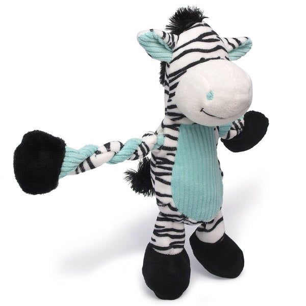 Charming Pet Products 11-inch Pulleez Zebra Plush Dog Toy