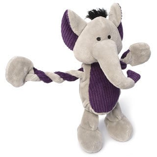 Charming Pet Products 11-inch Pulleez Elephant Plush Dog Toy