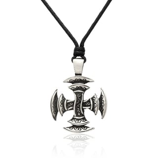 Gravity Metal Men's Medieval Celtic Cross Warrior Necklace