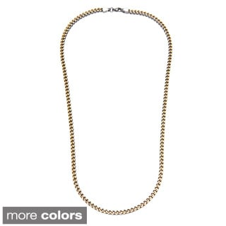 Stainless Steel Franco 30-inch Necklace
