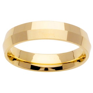 14k Plain Yellow Gold Comfort Fit Wedding Band Ring