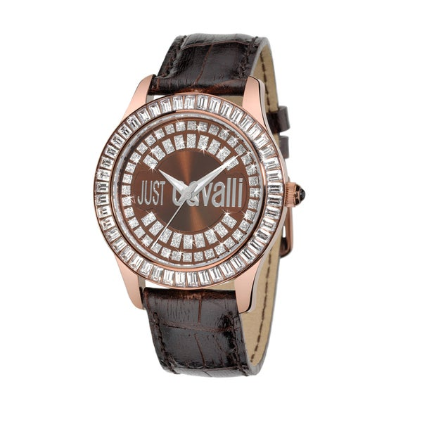 Just Cavalli Women's Ice Crystal-studded Stainless Steel Watch
