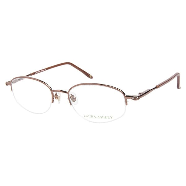 Laura Ashley Esther Brown Rose Prescription Eyeglasses