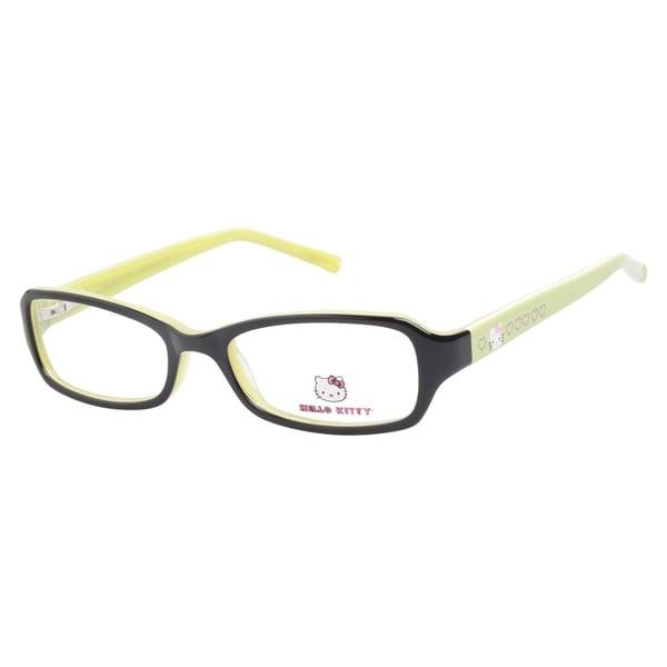 hello hk222 2 black lime green prescription eyeglasses