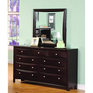 Jack 9-drawer Deep Cappuccino Dresser/ Mirror Set