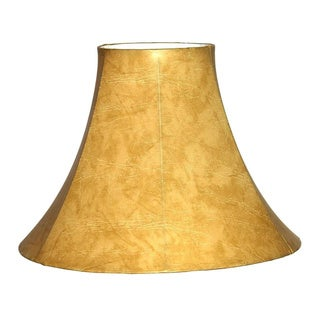 Faux Leather Bell Lamp Shade
