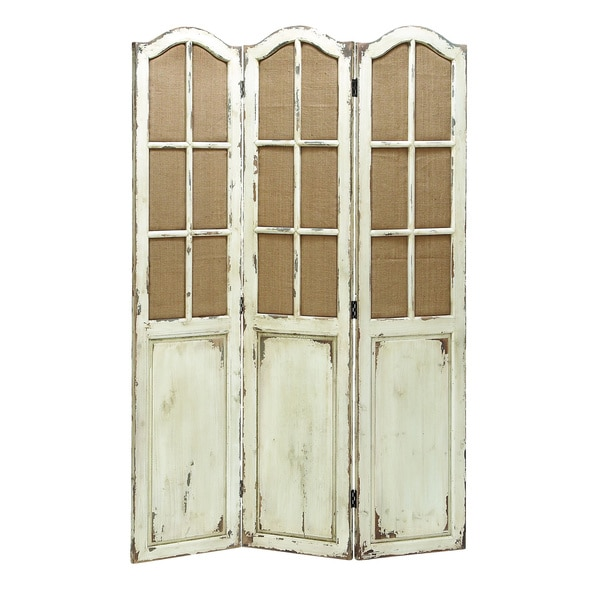 Folding 3-panel Wood Screen