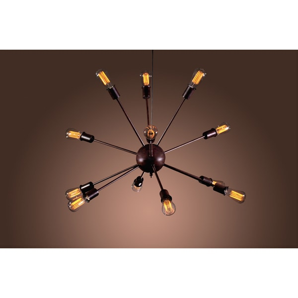 Jackstone 12-light Bronze Edison Lamp with Bulbs