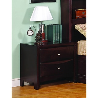 Jack 2-drawer Deep Cappuccino Night Stand