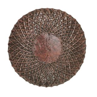 Rustic Brown Classy Round Shaped 23-inch Metal Wall Decor