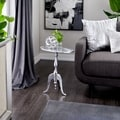 Aluminum Oval Accent Table