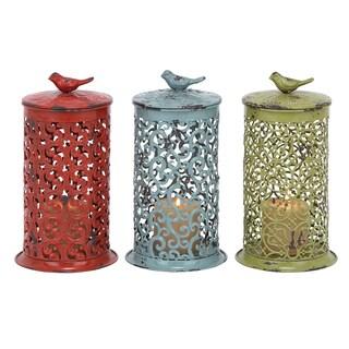 Multi-colored Metal Lantern Set (Set of 3)