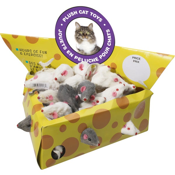 Spot Ethical 2-inch Plush Catnip Mice Toys (24-count)