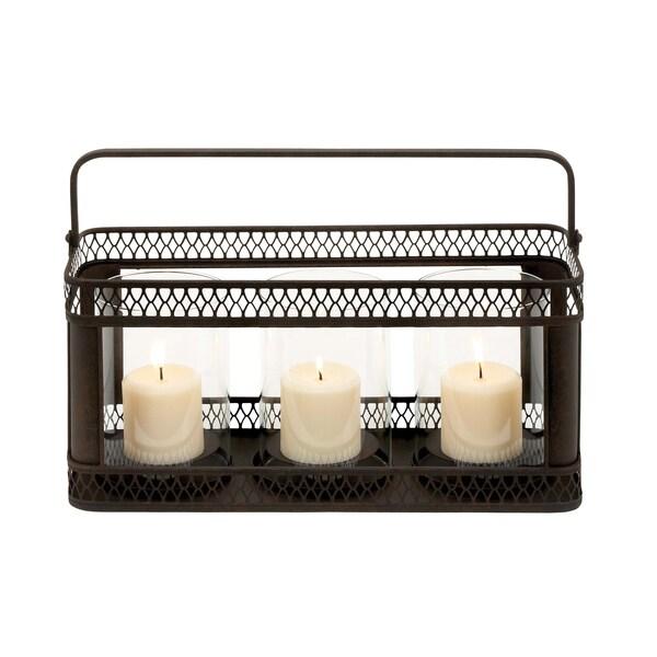 Black Metal 3-candle Holder