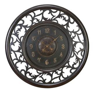 Hand-carved Frill Metal Wall Clock