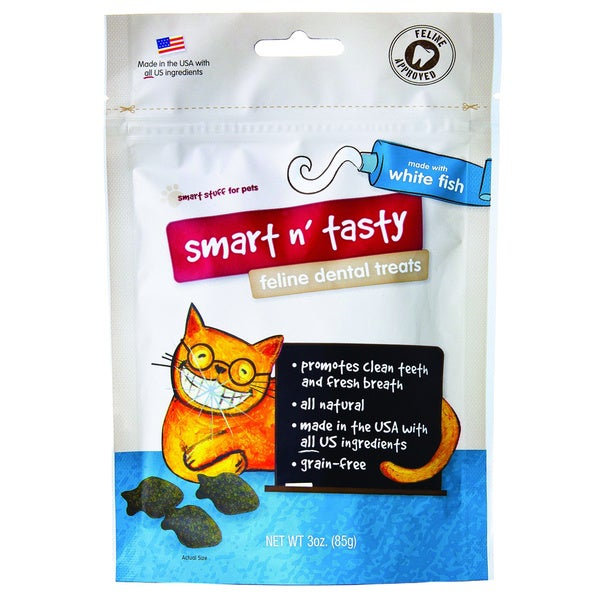 Emerald Pet Smart 'n Tasty White Fish Feline Dental Treats