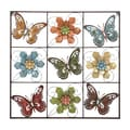 Flower and Butterfly Metal Wall Decor